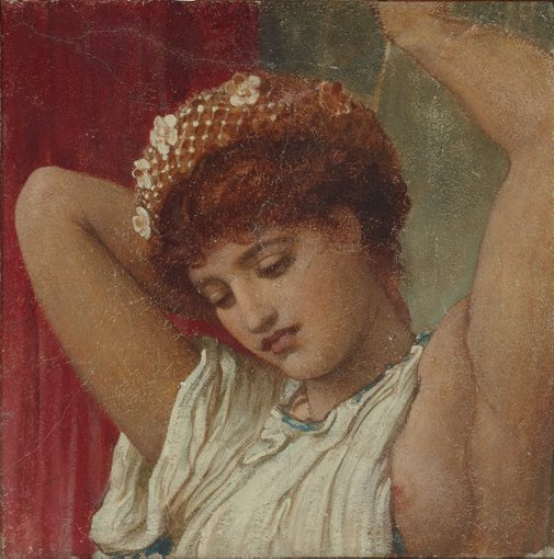 An image of Head from 'The Arts of Industry as Applied to Peace' (replica) by Lord Frederic Leighton