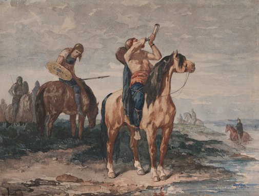 An image of The Merovingians by Évariste Vital Luminais