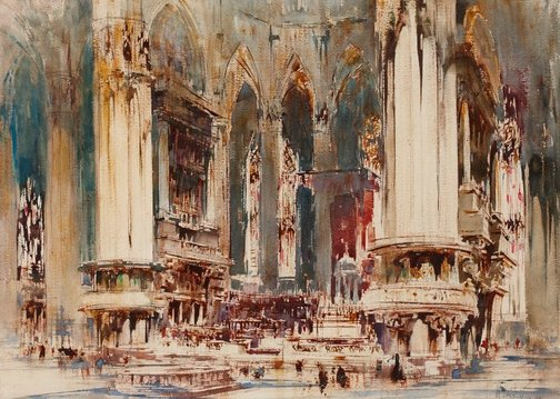 An image of Milan Cathedral by William Walcot