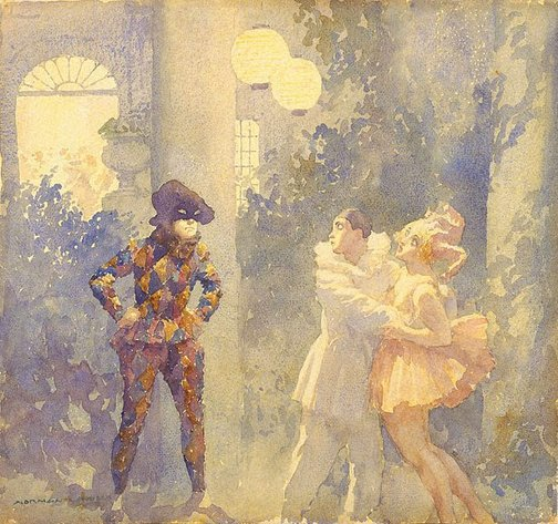 An image of Harlequin by Norman Lindsay