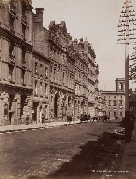 An image of O'Connell St looking South from Bent St. Sydney by Unknown, NSW Government Printer