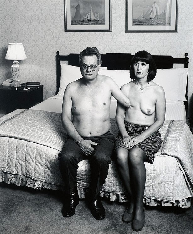 Portrait of M & F, (1996, printed 2001) by Mike Parr