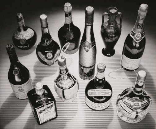 An image of Untitled (collection of liquors) by Max Dupain