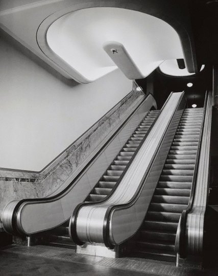 AGNSW collection Max Dupain Untitled (escalators) (circa 1951-circa 1952) 103.2003.28
