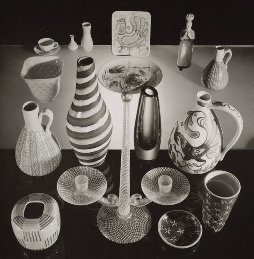 An image of Untitled (assorted arrangement of glasses) by Max Dupain