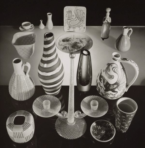 An image of Untitled (assorted arrangement of glasses)