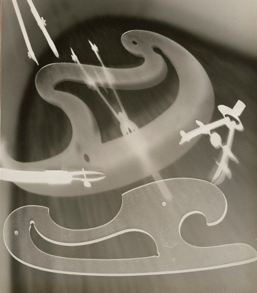 An image of Untitled (abstraction using graphic artist's utensils) by Max Dupain