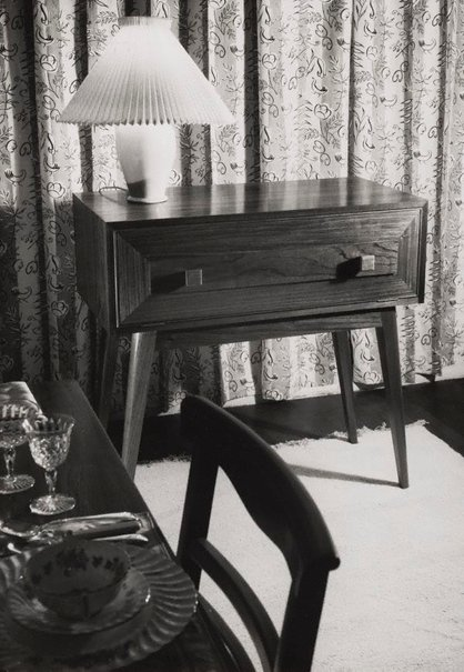 An image of Untitled (corner of dining room) by Max Dupain