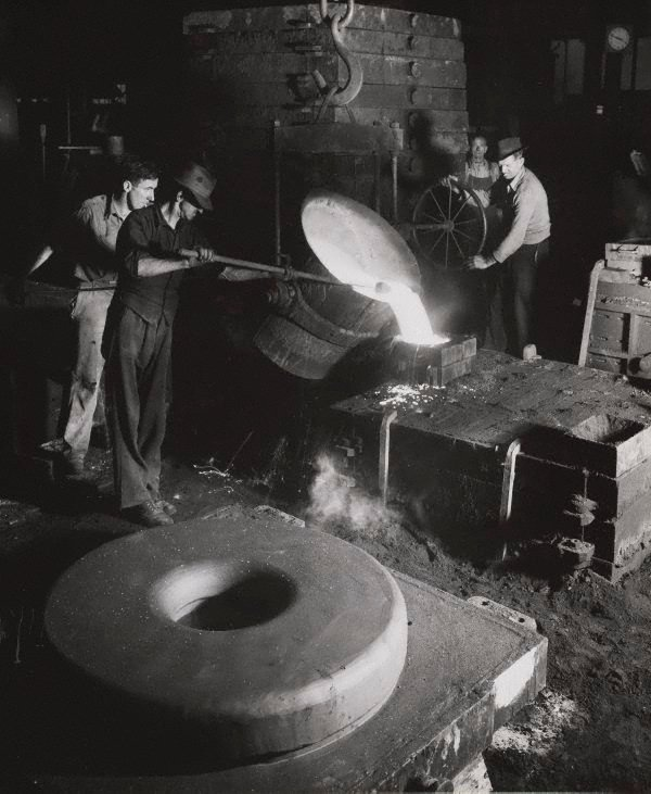 An image of Untitled (pouring liquid steel)