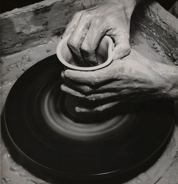 An image of Untitled (potter's hands at wheel)