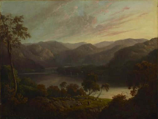 An image of Landscape view in Cumberland by John Glover