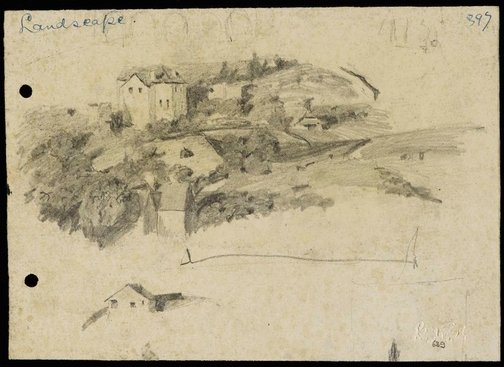 An image of Landscape with houses from Woollahra IV by Lloyd Rees