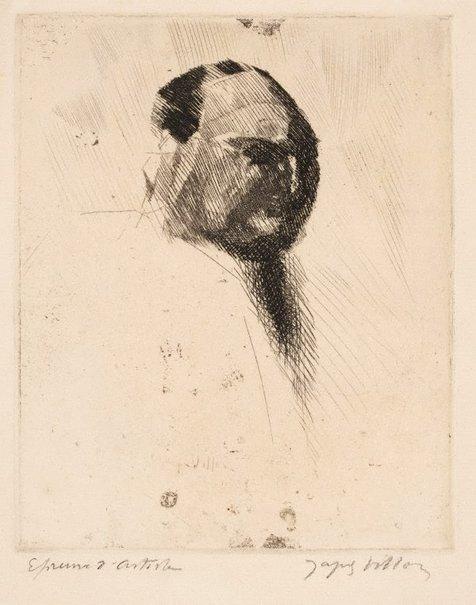 An image of Portrait of Félix Barré by Jacques Villon
