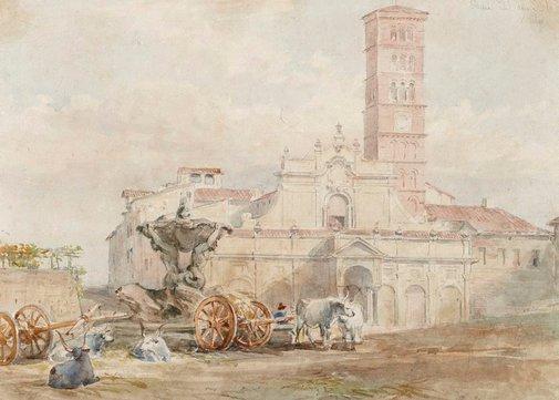 An image of La bocca della verita, Rome by Louis Haghe