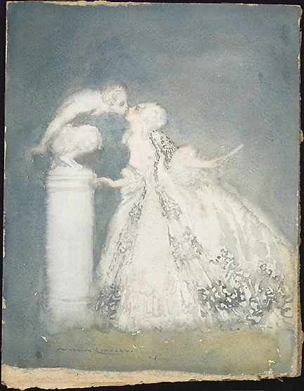 An image of The kiss by Norman Lindsay