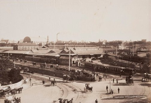 An image of Redfern railway station, Sydney by Unknown, NSW Government Printer