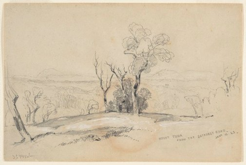 An image of Mount Toma from the Bathurst Road by John Skinner Prout