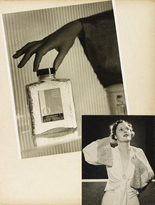 Alternate image of recto: Untitled (advertisement: Ososoft lavender bath starch) verso top: Untitled (woman with hand to head wearing lingerie robe) verso bottom: Untitled (period Interior with woman and pianoforte) by Max Dupain