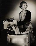 Alternate image of recto: Untitled (advertisement: fabric section of department store) verso: Untitled (advertisement: woman in tartan with Westinghouse washing machine) by Max Dupain