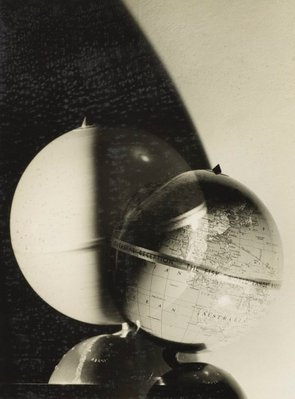 Alternate image of recto: Untitled (violinist and radiotron photo-montage) verso top: Untitled (FISC world range globe) verso botom: Untitled (pots) by Max Dupain
