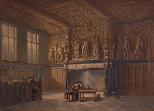 An image of Interior of the Hall of Justice, Bruges by John Chase