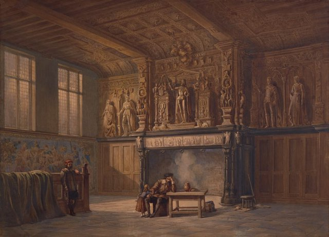 An image of Interior of the Hall of Justice, Bruges