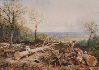 AGNSW collection Myles Birket Foster Barking, Springtime (circa 1885) 1041