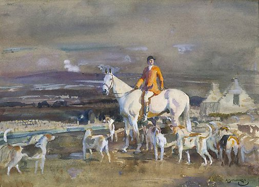 An image of The Master of the hounds by Sir Alfred Munnings