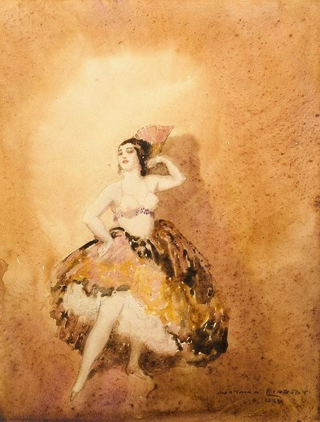 An image of Spanish dancer by Norman Lindsay