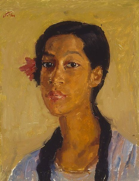 An image of East Indian girl by Augustus John OM