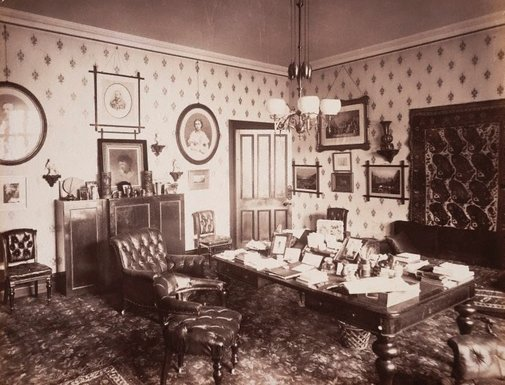 An image of The study, NSW Government house, Sydney by Unknown, NSW Government Printer