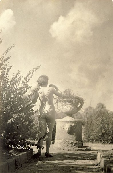 An image of Model in Norman Lindsay's garden, Springwood by Harold Cazneaux