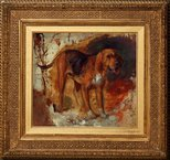 Alternate image of Study of a bloodhound by William Holman Hunt