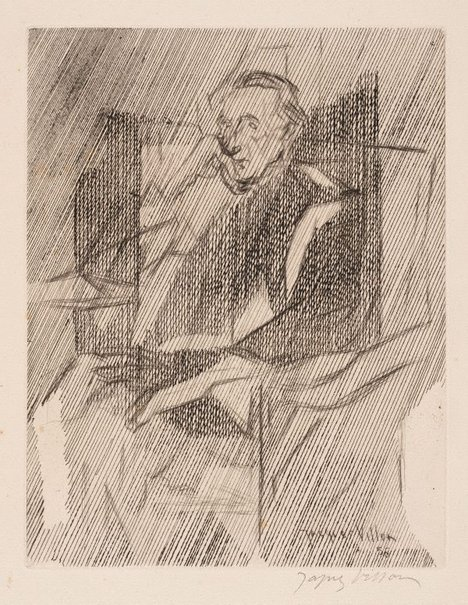 An image of Marcel Duchamp by Jacques Villon