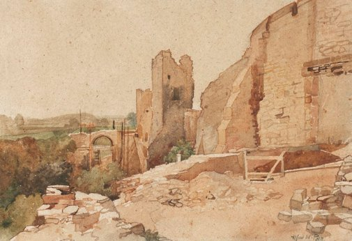An image of Richmond Castle by Alfred W Rich
