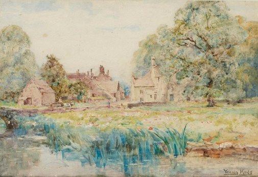 An image of Bibury, Gloucestershire by Yeend King