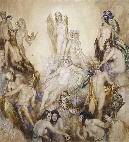 An image of Olympus by Norman Lindsay