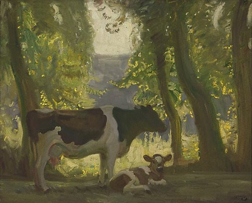 An image of Cow by Sir Alfred Munnings
