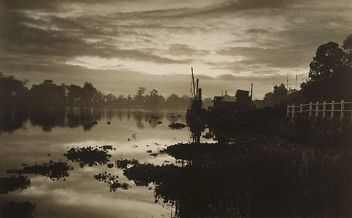 An image of Evening on the Clarence River by Harold Cazneaux