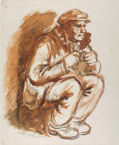 An image of Seated worker by Herbert McClintock