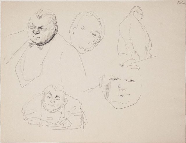 An image of (Studies of a man) (Late Sydney Period)
