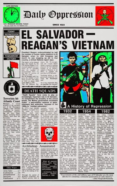 An image of El Salvador, Reagan's Vietnam by Redback Graphix, Michael Callaghan, Nick Southall
