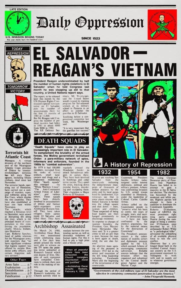 An image of El Salvador, Reagan's Vietnam