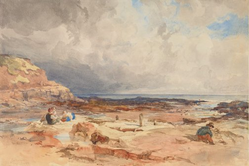 An image of Cullercoats, Northumberland by John Henry Mole