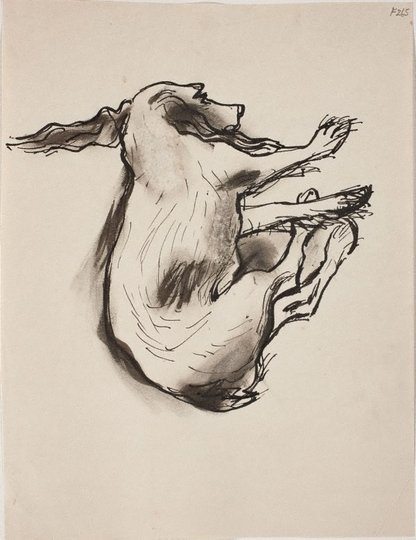 AGNSW collection William Dobell (Study of sleeping dog) (Late Sydney Period)