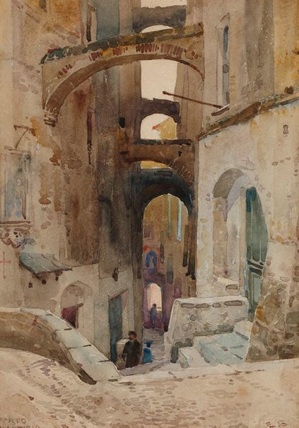 An image of Porto Maurizio by Sir Ernest George