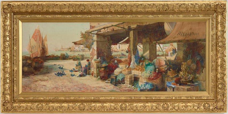 Alternate image of Venetian fruit stall by George Charles Haité