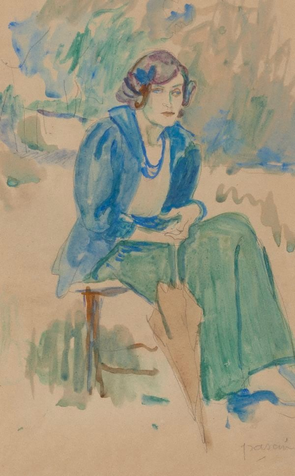 An image of Lady with a parasol