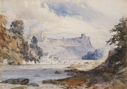 An image of Richmond, Yorkshire by William Callow