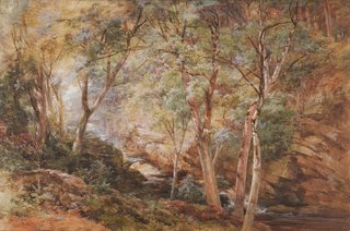 AGNSW collection Paul Jacob Naftel A stream from the Dochart, Perthshire (1875) 1089
